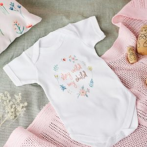 floral baby grow
